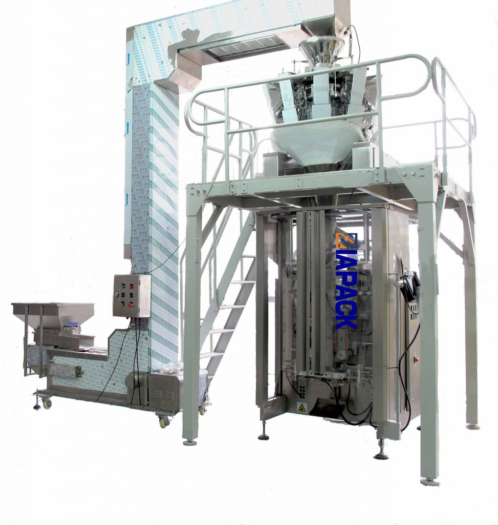 Automatic coffee bean packaging machine (quad sealing bag with degassing valve )