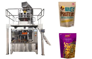 Automatic rotary bag taking filling sealing packaging machine for nuts